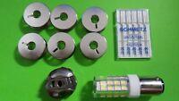 Nähmaschinen Spulenkapsel für PFAFF & Gritzner + 6 Spulen, LED Lampe,Nadel 70-90
