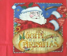 Mary Engelbreit The Night Before Christmas Fabric Printed Panel Cloth Book 2009