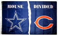 DALLAS COWBOYS vs CHICAGO BEARS flag HOUSE DIVIDED 3x5 FEET FLAG