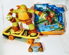 Teenage Mutant Ninja Turtle Michelangelo RC Skateboard & Remote works perfect