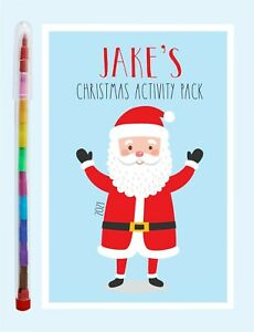 Personalised Children's Christmas Activity Pack and Pencil, Gift Stocking Filler