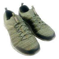 Sketchers Memory Foam Dual Lite Women's Athletic Shoe Olive Size 11