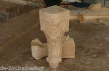 4 Pcs Hand-Carved wood Cabinets table bases feet Corbel Onlay