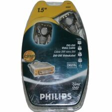 Philips DVI - DVI Video Cable 6ft TV Monitor DVD Sat Home Projector 24K Gold NEW