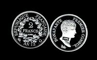 ★★ JOLIE COPIE PL. ARGENT DE LA TRES RARE 2 FRANCS AN 12 G GENEVE CONSUL ★★