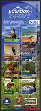 Ecuador 2018 MNH Tourism Birds Frogs Lizards Crodiles 8v S/A M/S 4v Block Stamps