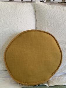 Sage And clare  Mustard Pea Cushion
