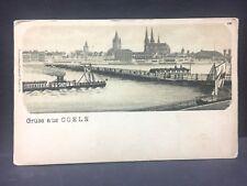 c1895 postcard GRUSS aus COELN [Koln, Cologne] Germany...beautiful river scene,