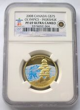 Canada 2008 Inukshuk Stone 75 Dollars NGC PF69 Gold Coin,Proof