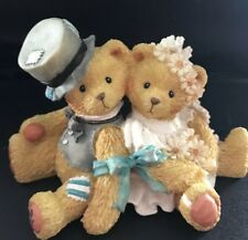 """Robbie and Rachael """"Love Bears All Things""""Cherished Teddies Hillman - Numbered"""