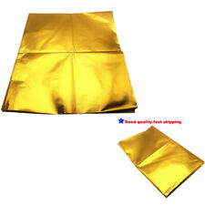 "39""x47"" SELF ADHESIVE REFLECT A GOLD HEAT WRAP BARRIER FOR THERMAL EXHAUST INTAK"