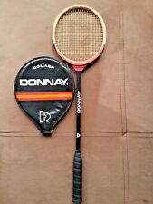 Vintage Donnay Allwood Squash Racquet Ian Robinson With Leather Cover