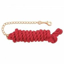 Tough-1 Braided Cotton Lead w/ Chain  --8.5 x 3/4  --RED