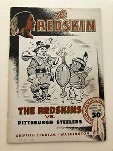 1954 Washington Redskins vs Pittsburgh Steelers Program