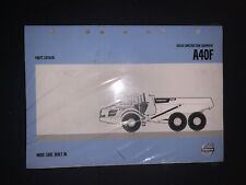 Volvo A40F Parts Catalog w/ Extras *NEW* 63A9920618 ARTICULATED HAULER