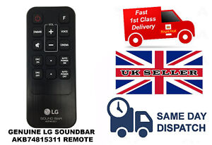 GENUINE ORIGINAL LG SOUNDBAR REPLACEMENT REMOTE AKB74815311