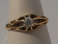57H Mens or Ladies 18ct gold 1/5 carat solitaire VS2 diamond solitaire ring