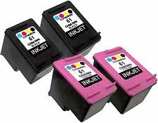 4PK For HP 61 CH561WN CH562WN (New Gen) Deskjet 2546B 2547 2549 3000 3050 3050A