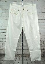 Vintage Moschino Jeans White Denim Pants Pocket Embroidery Italy Rare 90s Sz 4
