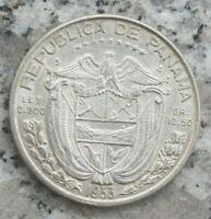 1/2 Balboa 1953 Silbermünze Panama Medio Balboa
