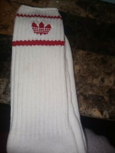 Vintage Adidas Athletic Tube Sock White made in USA