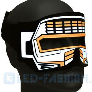 Raver  LED-Augenmaske orange Maskenball Augenmaske Festival Must have Partymaske