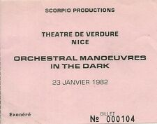 RARE / TICKET BILLET DE CONCERT - ORCHESTRAL MANOEUVRES IN THE DARK A NICE 1982