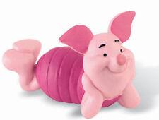 Figurine disney bullyland WINNIE L'OURSON porcinet couché  NEUF cake topper