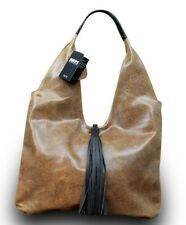 Made in Italy Luxus Damen Borsa A Tracolla Shopper Vera Pelle Sauvage Marrone