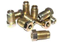 "Long Brake Pipe Nuts 10mm x 1.25mm Qty 50 Pk Male M10 Nut 3/16"" Copper BPN27"