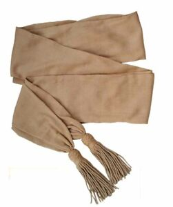 Buff General officers silk sash, American Civil War, New