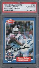 1988 Swell Autographed Football Card of Johnny Unitas PSA/DNA  Certified Card