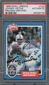 1988 Swell Football Card-Johnny Unitas-Baltimore Colts PSA/DNA Autographed Card.