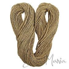 100 mtrs 2 plis marron naturel jute hesse Burlap ficelle cordon cordon chaîne rustique