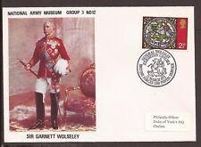 GB 1972 Commemorative Cover. forces britanniques service postal. Sir Garnett Wolseley