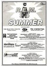 "17/12/94PGN45 CONCERT ADVERT 7X5"" R.E.M SUMMER 95, THE BEAUTIFUL SOUTH, THE CRAN"