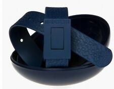 New Cinture Too Late Belt Navy Blue 100% Made in Italy