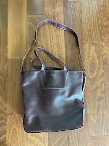 Matt & Nat Plum Purple Vegan Laptop Bag Briefcase Travel Bag Large Zipper