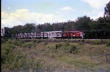 Aug 77 CP Rail Bi Level Commuter Train Montreal ORIGINAL PHOTO NEGATIVE-Railroad