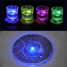 Bunte wechselnden LED-Licht Flasche Tasse Matte Coaster für Clubs Bar Party