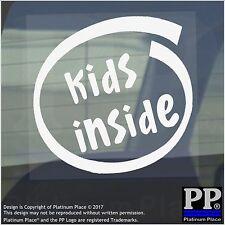 1 x Bambini all'interno-Finestra, Auto, Furgone, STICKER, SEGNO, veicolo, figlio, baby, Ragazzo, Ragazza, di avvertenza