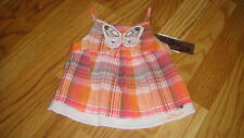 NWT NEW CATIMINI 18M 18 MONTHS BUTTEFLY TOP MADRAS ROSE