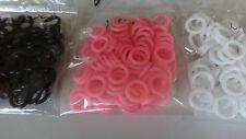 SET 20 Gummi o - ringe 10mm PLUGS TUNNEL OHR schwarz pink weiß rubber latex lot