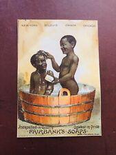 Fairbanks Soap Black Americana Boys Washing Vintage Victorian Trade Card