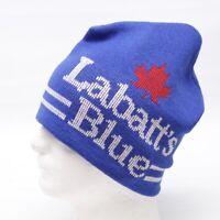 VTG Labatts Blue Unisex Knit Hat Toque Blue White Red Maple Leaf Canada Beer Cap