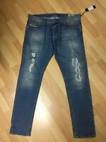 NWT Mens Diesel THEPPAR STRETCH Denim 084FT BLUE SLIM W36 L32 H6.5 RRP£200