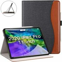 """Leather Case Apple iPad Pro 11"""" 2020 Folio Stand Smart Cover Protective Sleeve"""