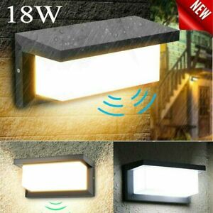 18W Mains Powered Aluminium External lamp Porch Sconce for Garden Patio Garage