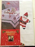 """Holiday Celebrations by Christopher Radko Tablecloth Round 70 x 70"""" Christmas"""