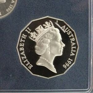 1996 50 cent Proof Coin in 2 x 2